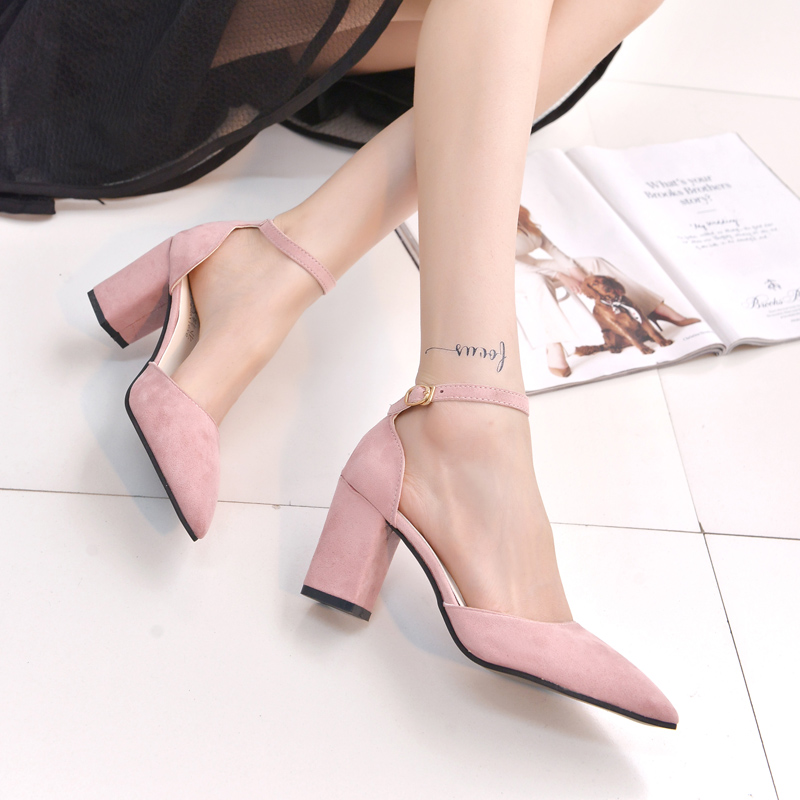 Shoes Woman High Heels Ladies Pumps Footwear Pointed Toe Woman Shoes zapatillas mujer sapato feminino chaussure Black Gray Pink<br><br>Aliexpress