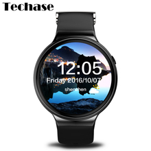 Techase 2017 New I4 Smartwatch Android 5.1 OS Smart Watch GPS Tracker Heart Rate Monitor Watches 3G WiFi SIM Card APP Download