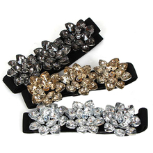 Buy 2017 Women Wide Elastic Belt Rhinestones Flower Belts Luxury Crystal Retro Girls Jeweled Girdle Korean Style accessories for $9.00 in AliExpress store