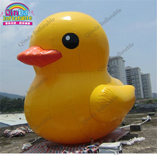 0.9mm pvc factory price inflatable pool duck , 3m height giant inflatable promotion duck(China)