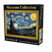 The World Famous Painting By Van Gogh The Starry Night 3D Jigsaw Puzzle 1000 Pcs Wooden Paper Puzzle For Adult(China)