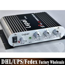 Free DHL Fedex 50pcs/lot LP838 Mini Amplifier 2.1-channel Power Amp Stereo Amp for MP3 MP4 Car Motorcycle Bike