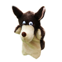 Cartoon Animal Plush Hand Puppets Childhood Soft Toy Wolf Shape Story Pretend Playing Dolls Toys for Children