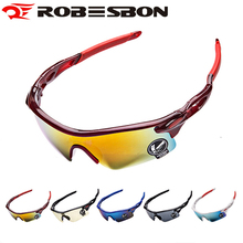 ROBESBON Anti-UV Cycling Glasses Men Plastic Sports Eyewear Bicycle Bike Sunglasses Women Riding Goggles Oculos Ciclismo