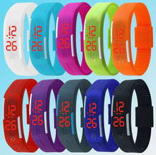 Fashion led Watches Candy Color Silicone Rubber Touch Screen Digital Watches Bracelet Sports Wristwatch