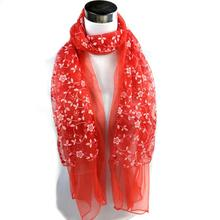 women Scarf Lady Embroidered Lace Sheer Burntout Fashion Lady Embroidered Scarf Lace Sheer Burntout Floral Mantilla Shawl Wrap