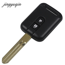 jingyuqin Remote Key Shell for Nissan Pathfinder Qashqai Nissan Micra Navara Almera Note 05-14 Replacement Case Fob 2 Button