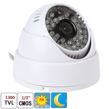 "1/3"" CMOS Long Life 48 LED Lights 1300TVL 48 IR LEDs 3.6mm CCTV Video Surveillance Dome Night Security Camera"