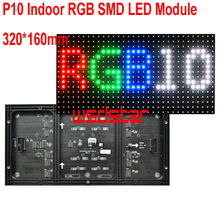 P10 Indoor RGB SMD LED Module 320*160mm 32*16pixels for full color LED display Scrolling message P10 RGB LED display(China)