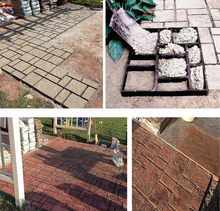 51cm BIG  Garden DIY Plastic Path Maker Mold Road Paving Cement Mould Brick decor path stepping step stone maker square mold