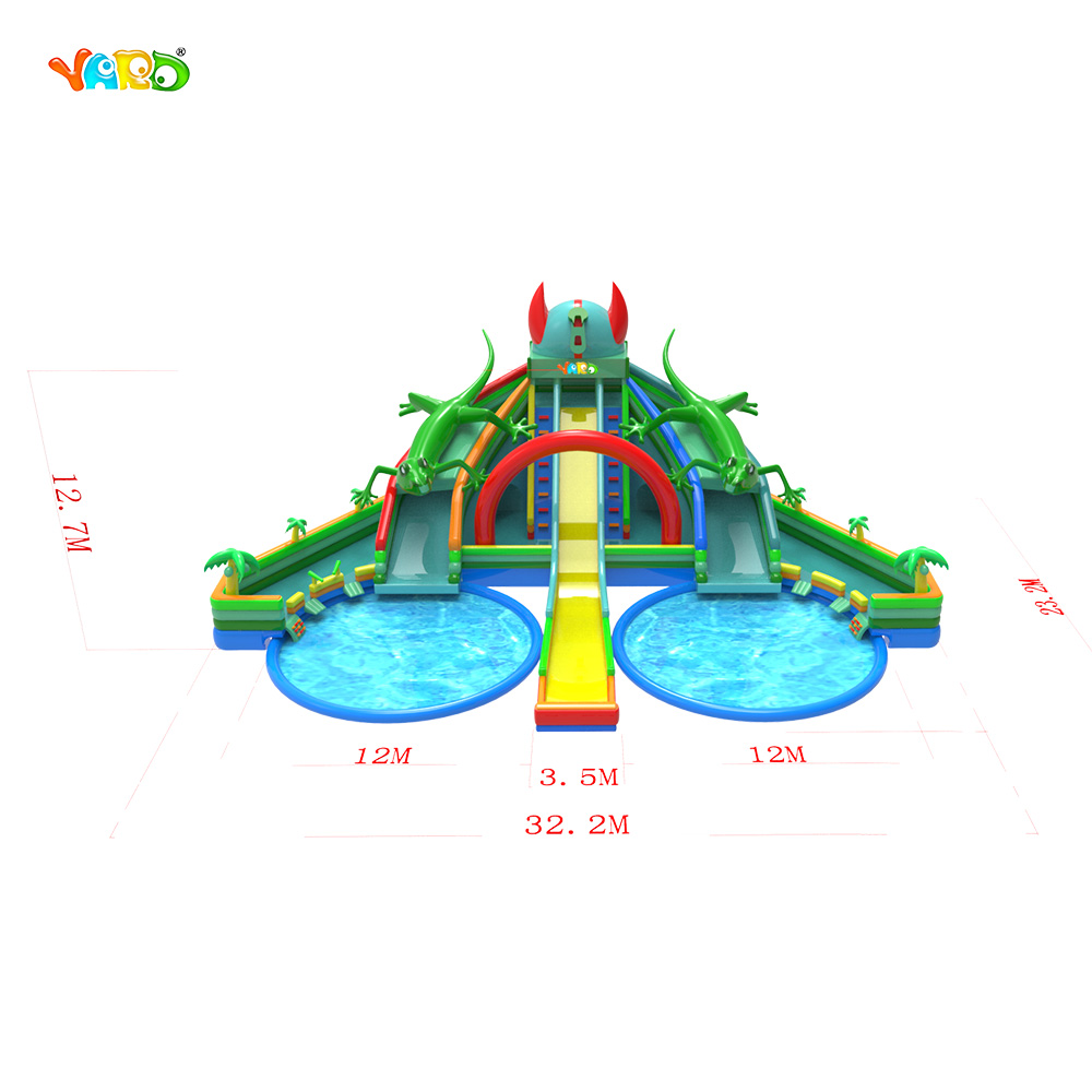 9326 Inflatable Water Slide with Pool 3