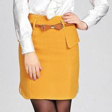free shipping Stylish stitching woolen skirts plus size  pencil skirt  Package hip skirt