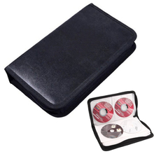 2015 New 80 Disc CD Holder DVD Case Storage Wallet VCD Organizer Faux Leather Bag 1VDR 6UIW