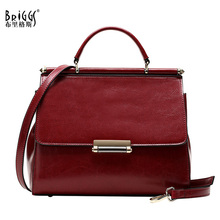 BRIGGS Brand Genuine Leather Women Shoulder Bags Vintage Women Messenger Bag Shell Bags Casual Tote Crossbody bag For Women 2018(China)