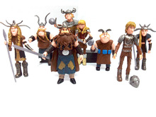 Funny Cool How to Train Your Dragon 2 Action Figures soldier Toys Kids Gifts 8pcs/set