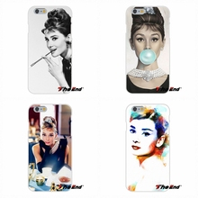 Classic Star Audrey Hepburn Makeup For Samsung Galaxy A3 A5 A7 J1 J2 J3 J5 J7 2016 2017 Soft Silicone Cell Phone Case Cover