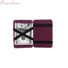 Men And Women Leather Wallet Mini Neutral Grind Magic Bifold Card Holder Wallet Purse Drop Shipping Wholesale Billetera 17Apr28