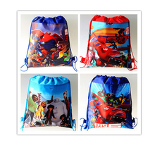 2016 New! Minion bags Children School Bags For Girls &Boys Cute Cartoon Kids Drawstring Backpack two side Gifts Back To School
