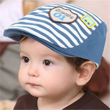 2017 New Summer Cotton Comfortable Infant Hats Cute Casual Striped Soft Eaves Baseball Cap Baby Boy Beret Baby Girls Sun Hat