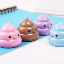 2 PCS Cute Mini Shit Shape Pencil Sharpener Novelty Fashion Pencil Sharpener School Supplies for Student Office Stationery Gifts