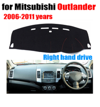 Car dashboard Covers mat For Mitsubishi Outlander 2006-2011 years Right hand drive custom dashmat car dash pad auto accessories(China)