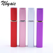 Nbyaic Best selling 12ML High Quality Portable Refillable Aluminum Perfume Bottle With Atomizer Empty Parfum Cosmetic  Container