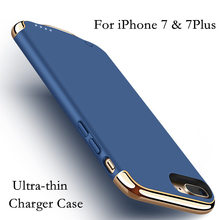 Luxury Charger Case For iPhone 7 / 7 Plus 2500/3500mAh Power Bank Case Ultra Slim External Pack Backup Battery Case Cover