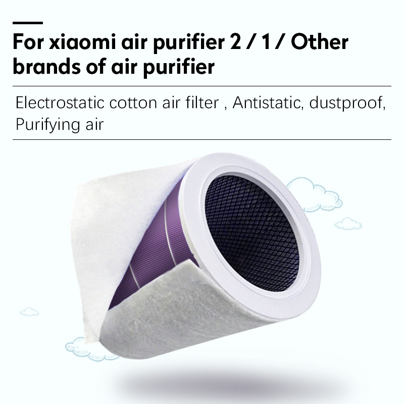 10 PCS Electrostatic Cotton Anti-dust Air purifier Filter for xiaomi mi 1/2/2S hepa air filter Universal Air purifier PM2.5
