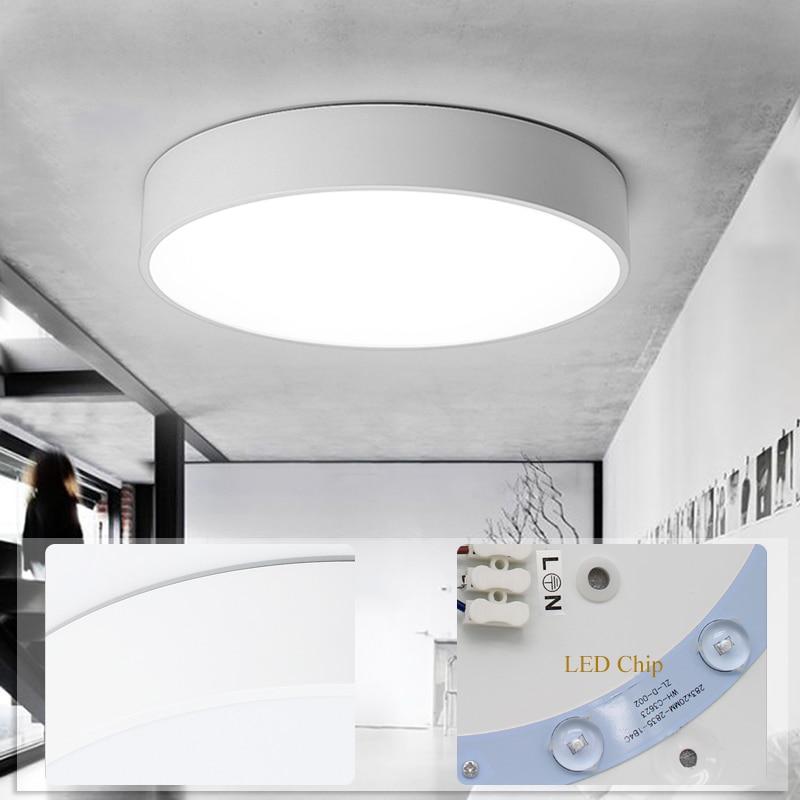 White-round-led-ceiling-light