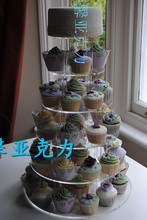 Round 6 Tiers Acrylic Cupcake Holders,Cupcake Stands wedding decoration