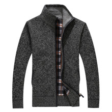 2017 autumn and winter new wool coat Men 's casual cashmere cardigan jacket Fashion collar collar men thick sweater(China)