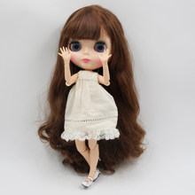blyth joint doll brown with gold long curly hair factory BL9158/0635 natural skin for girl present DIYspecial offer(China)