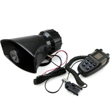 free shipping 12V 80W 7 Tone Sound Car Siren Vehicle Horn Car Siren Speaker&Mic PA Speaker System Emergency Sound Amplifier(China)
