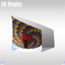 Trade Show Semi-Circle Booth Portable Advertising Tension Fabric Stall Display Stand With Single Side Banner Printing(China)