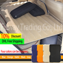 Car Air Mattress Travel Bed Car Back Seat Cover Inflatable Mattress Air Bed Good Quality Inflatable Car Bed For Camping(Khaki)