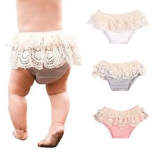 Tassels Floral Baby Girl Ruffle Shorts Babies Cute Bloomers Diaper Cover Clothes Multi-colored(China)