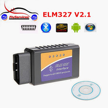 2016 Newest ELM327 Bluetooth OBD2 Scanner V2.1 Interface Works On Android Torque Elm 327 Bluetooth OBDII Car Diagnostic Scanner