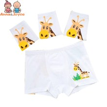 Breathable White Children Underwear Combed Cartoon Pattern Boy Boy Underwear Small Children Cotton Flat Pants TNM0120(China)