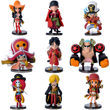 9pcs/lot Anime One Piece PVC Action Figure Cute Mini Figure Toy Doll Model One Piece Toy Collection(China)