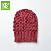 2017 KBB Spring Comfy Red Croquet Pattern Designer Yarn Knitted Women Men Adult Fashion Warm Winter Hat Beanie Thicken Cap(China)