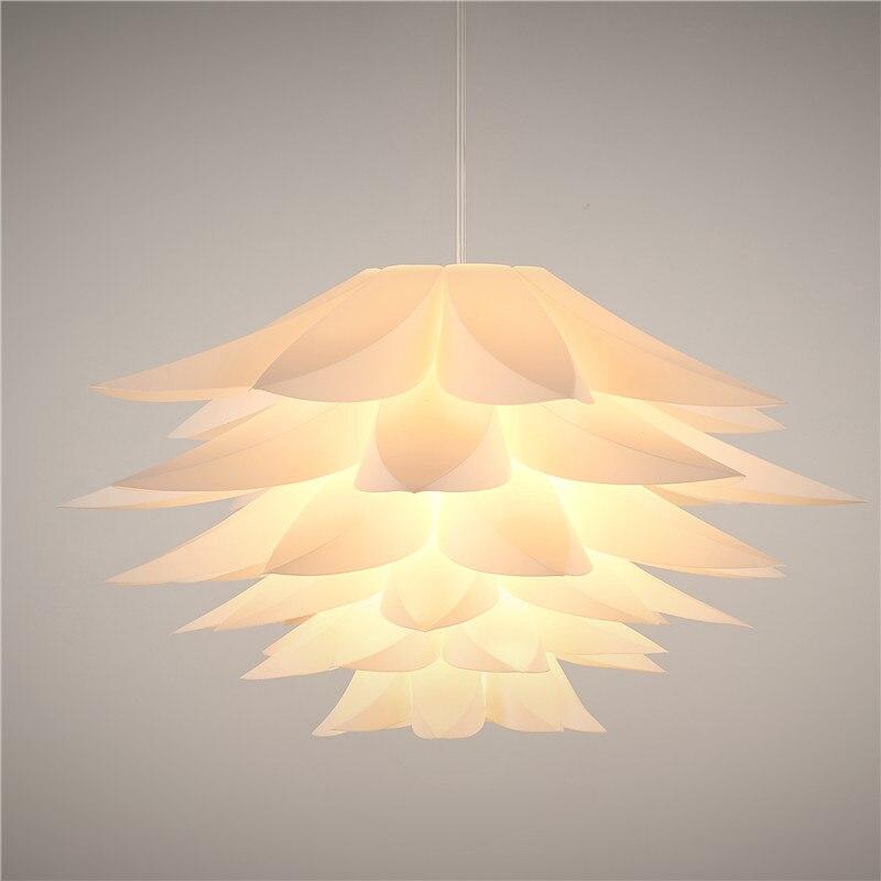 Modern Lily Flowers Lustre Pendant Lights PVC Lotus Lampshade DIY Pendant Lamp LED hanging lamp light fixtures luminarias E27<br><br>Aliexpress