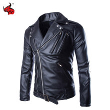 Buy Motorcycle Jackets Mens Classic Vintage Retro Motocle Jacket Turn Collar Slim Faux Leather Biker Jacket Motorcycle Clothing for $45.50 in AliExpress store