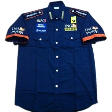 Renault shirt F1 fashion suit short-sleeved embroidered shirts(China)