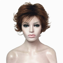 StrongBeauty Women's short Wigs Natural Fluffy Blonde/Auburn Hair Synthetic Full Wig(China)