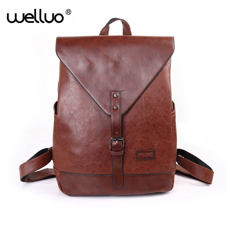Women Fashion Backpacks Male Travel Backpack Mochilas School Mens Leather Business Bag Large Laptop Shopping Travel Bag XA155WB<br>