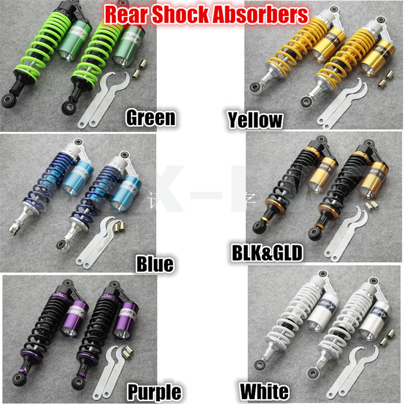 New A pair  12.5 320mm Rear Air Shock Absorbers For Honda Yamaha Scooter ATV Quad / Multi color optional<br><br>Aliexpress