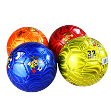 Four Colorful Children Soccer Ball Kids Playing Funny PVC Football Indoor Sport Training Cartoon Balls Futbol Voetbal Bola(China)