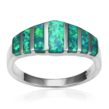 Gorgeous Green Fire Opal Gem Silver Rings For Women Engagement Finger Ring Christmas Gift for Lovers' Wholesale Jewelry