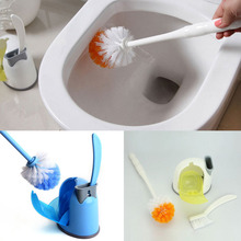 Portable Toilet Brush Scrubber Cleaner thicken Toilet Slit Clean Brush WC brush set within base A4
