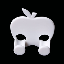 Apple-Shaped Power Plug Wire Socket Jack Hook Holder Bag Hanger Home Wall Decor(China)